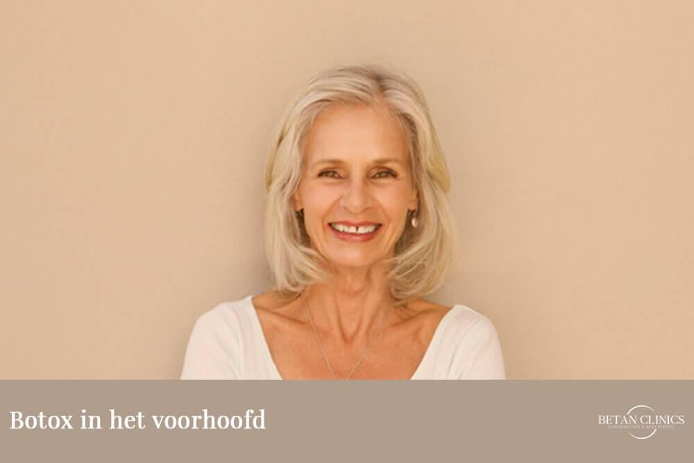 Botox in voorhoofd de opties om voorhoofdsrimpels te verwijderen